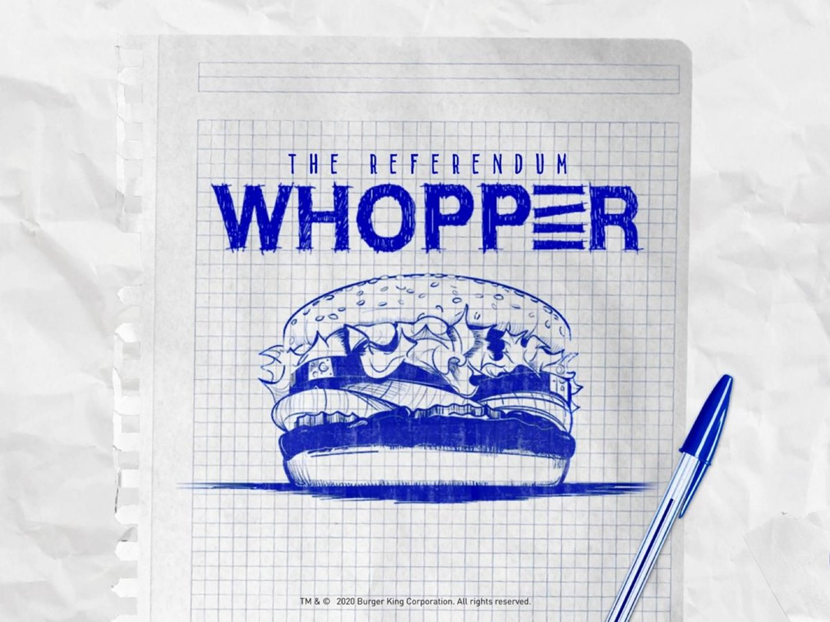 Click through to see the @UberEats ad by Wolf BCPP, Chile: The Referendum Whopper https://t.co/fMcAlbW1mN https://t.co/FYZDuxbsl2