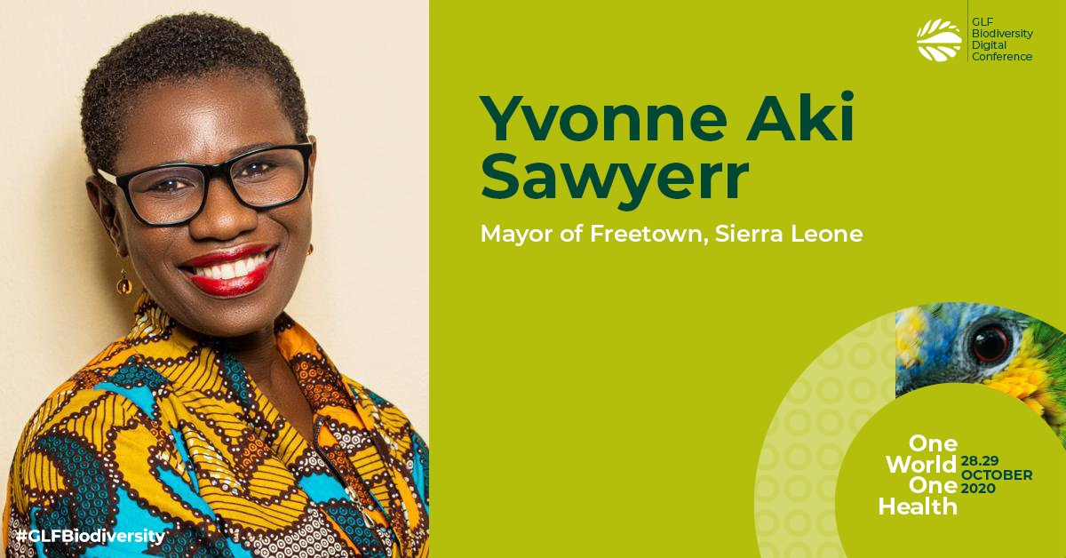 Find out about #Freetown, #SierraLeone mayor @yakisawyerr's inspiring #FreetownTheTreeTown campaign for urban regeneration through planting a million trees, here at #GLFBiodiversity  🌳Register now: https://t.co/QIDzpd9jeS https://t.co/0JusvGKcFF