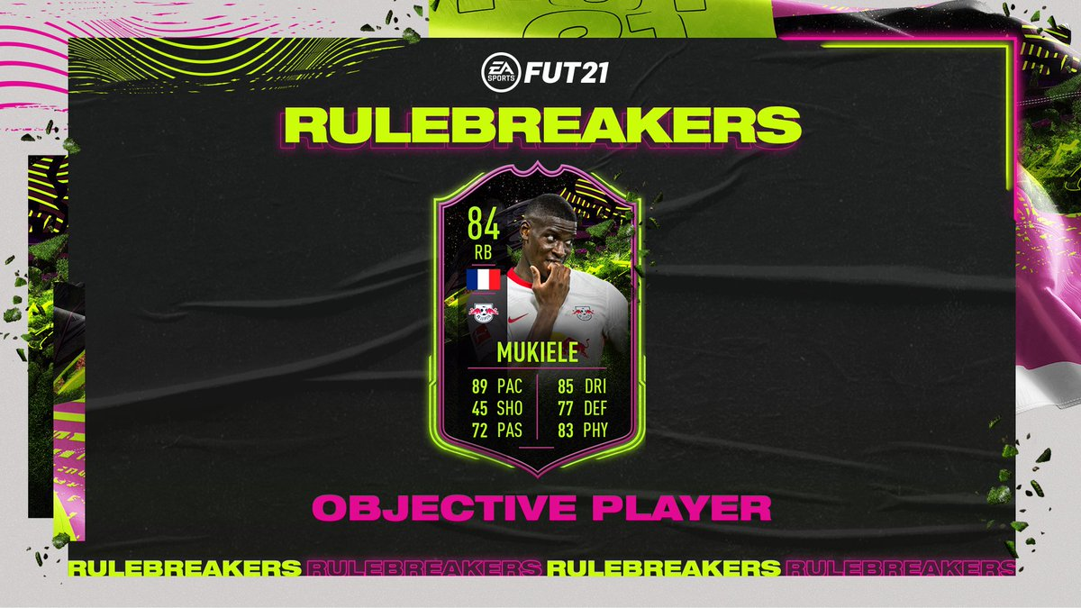 The Bundesliga right back you've been waiting for.  #Rulebreakers Nordi Mukiele now available through Objectives in #FUT21 https://t.co/vQ8tcreHnm