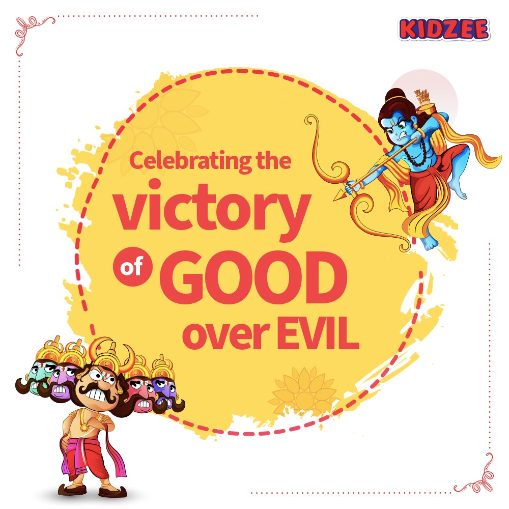 #Dussehra is celebrated to commemorate Lord Ram's victory over #Raavan after he kidnapped his wife, #Sita.  It also marks the tenth day of #Navratri.   Happy Dussehra!  #Kidzee #HappyDussehra #Dussehra2020 #Celebrations #Festival #CreativeSpot #TopicalSpot #TopicalPost https://t.co/3n8u5RCeSR
