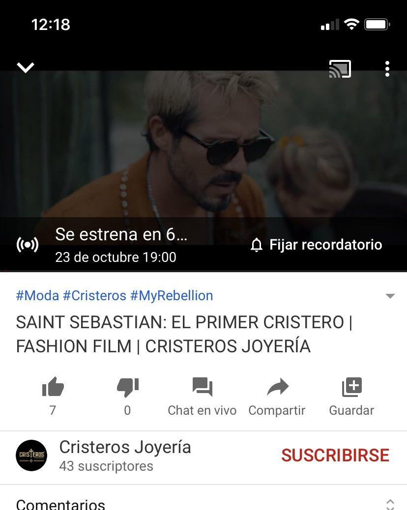 Estreno del fashion film de Cristeros Joyería hoy a las 19:00 hrs por YouTube @JoseRon3
