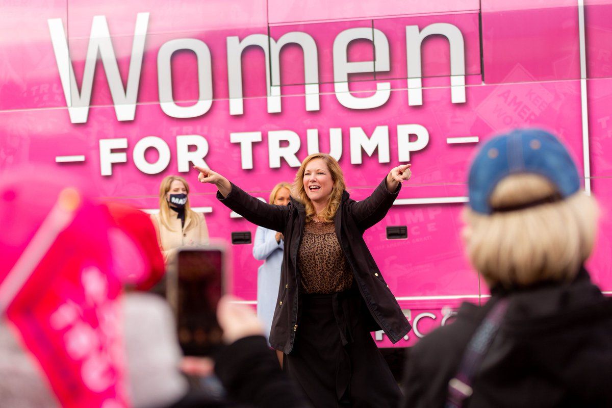 We turned up the volume on @TrumpWomensTour in #Wisconsin! Kenosha will vote FOUR MORE YEARS for @realDonaldTrump!