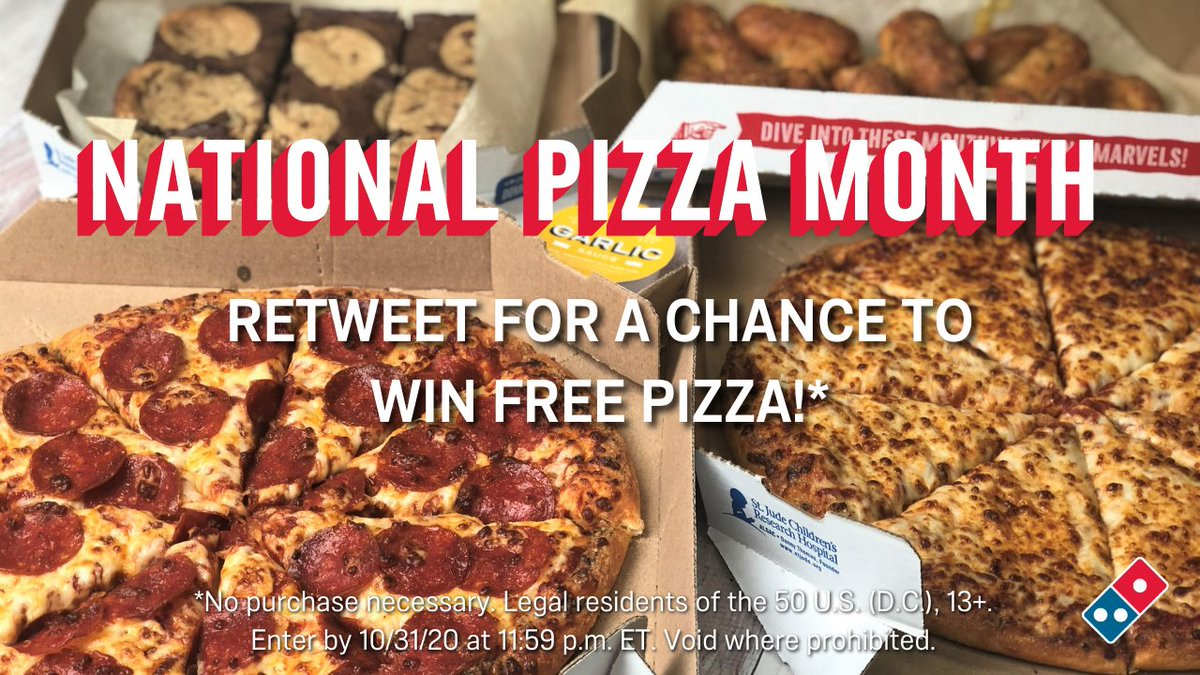 Pumpkin: carved 🎃 Season: spooky 👻 Pizza: FREE 🍕  RETWEET for your chance to #WinDominosPizza in honor of #NationalPizzaMonth! Rules: https://t.co/a422dywnh9 https://t.co/mcu7SSLBma
