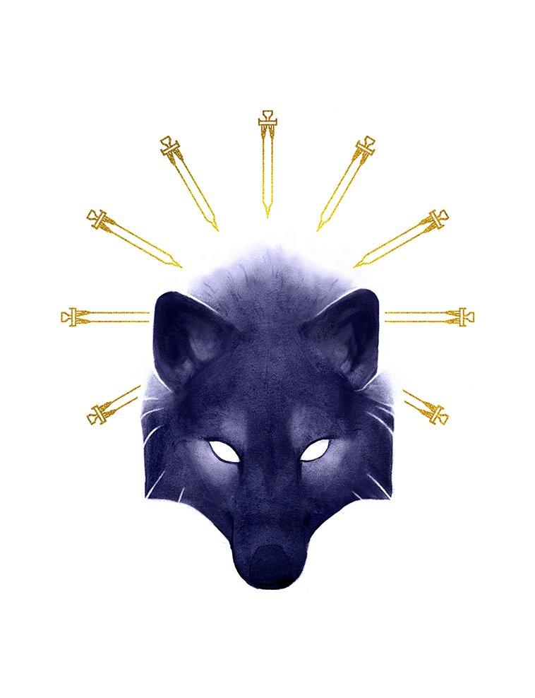 #Inktober 2018 - Day 31 - Slice by Noxaunu - https://t.co/ika5ebSwyM via @insprade #inspirationde #Art #Canine #Illustration #Wolf https://t.co/nEmRYdbH5r