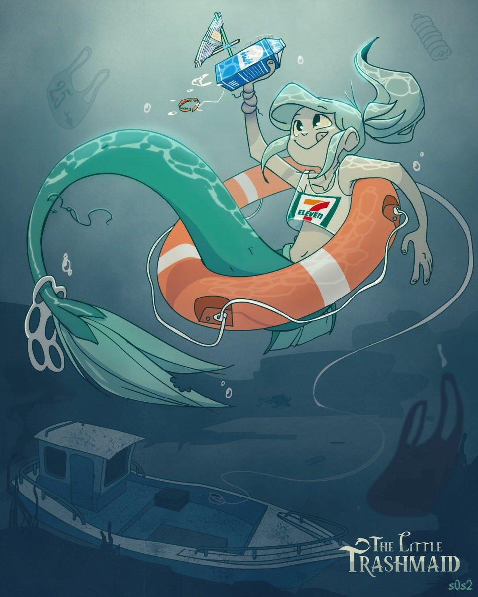 #Inktober Trashmaid by s0s2 - https://t.co/OGtPbhCUoo via @insprade #inspirationde #Art #Illustration #Mermaid https://t.co/UsagQv17OP