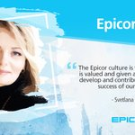 "Svetlana Ganus, Epicor HR Business Partner in Moscow, shares her #EpicorStory.  ""As a member of the Epicor family, I come to work feeling empowered to attain my goals to take my career to new heights."""