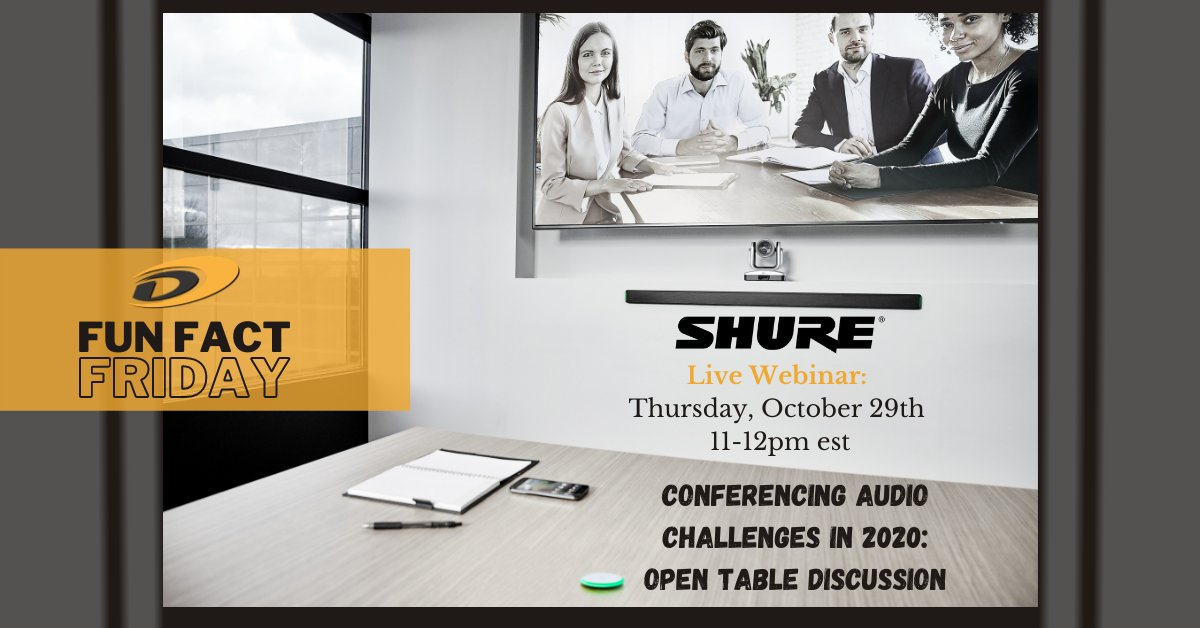 #FunFactFriday We will be having a webinar next Thursday, October 29th! Register here, it's not too late: zoom.us/webinar/regist… We will be talking about some of these challenges during an open table discussion during this webinar. We will be co-hosting with @shure.