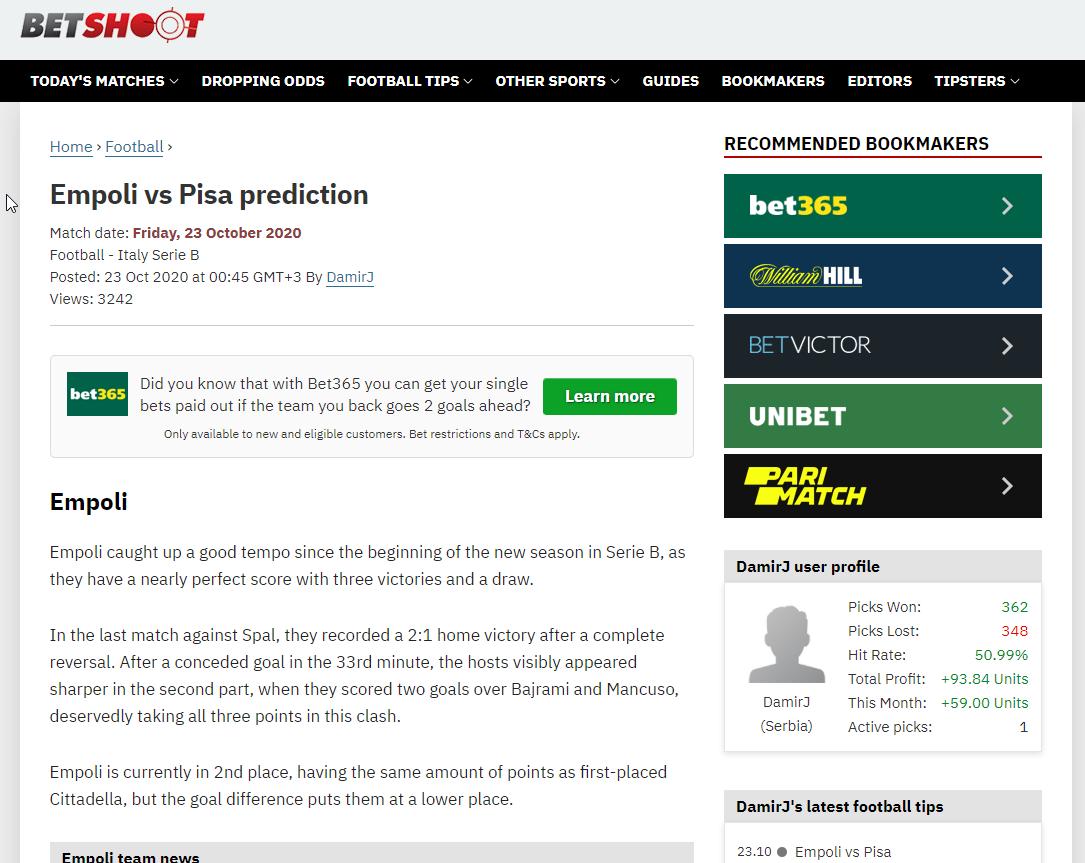 0ah betting odds