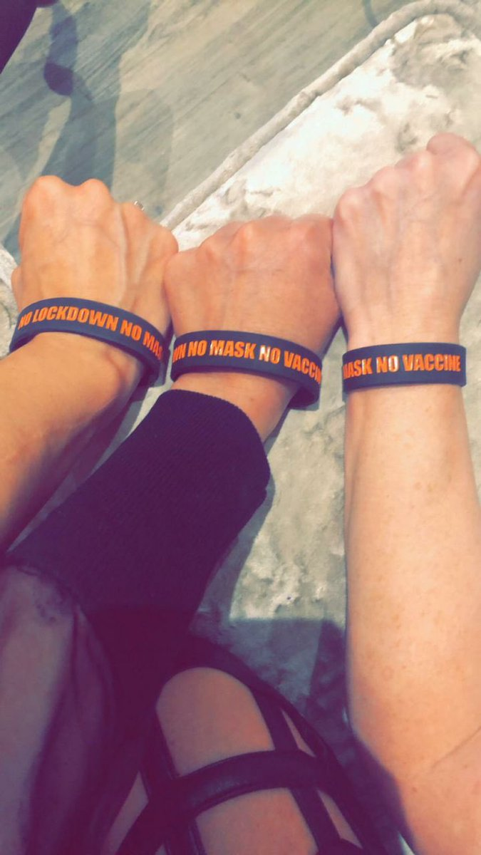 We now have No Mask, No Vaccine, No Lockdowns wristbands available for sale. Selling tomorrow at London March for 2.99 each or 2 for £5 OR with 1 delivered it's 5 each or 2 for £8 delivered 🧡 easily identify yourself with fellow truth seekers 🌟