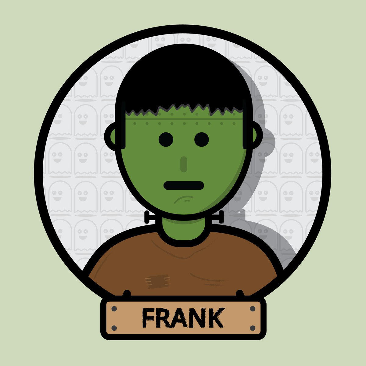 Meet Frank, a friendly monster who only gets angry when hungry. #happyhalloween #halloween #frankenstein #monsters #spooky #characterdesign  #flatvector #dailydesign #onceadaydesign #halloween2020 #october #halloweenicons #halloweenmonster #designoftheday #halloweendesign https://t.co/yu39AyTbs0