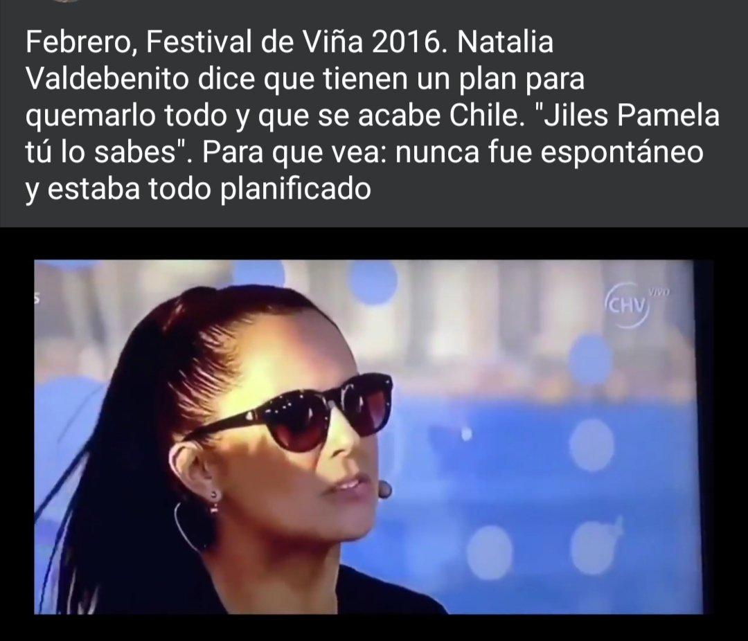 Febrero, Festival de Viña 2016. Natalia Valdebenito dice que tienen un plan para quemarlo todo y que se acabe Chile.
