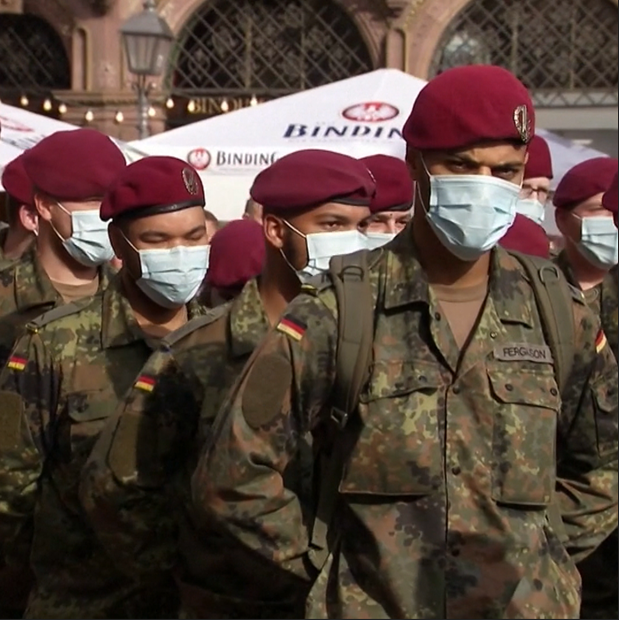 Germany has called in the military to assist the health authorities amid a rapid spike in coronavirus cases.