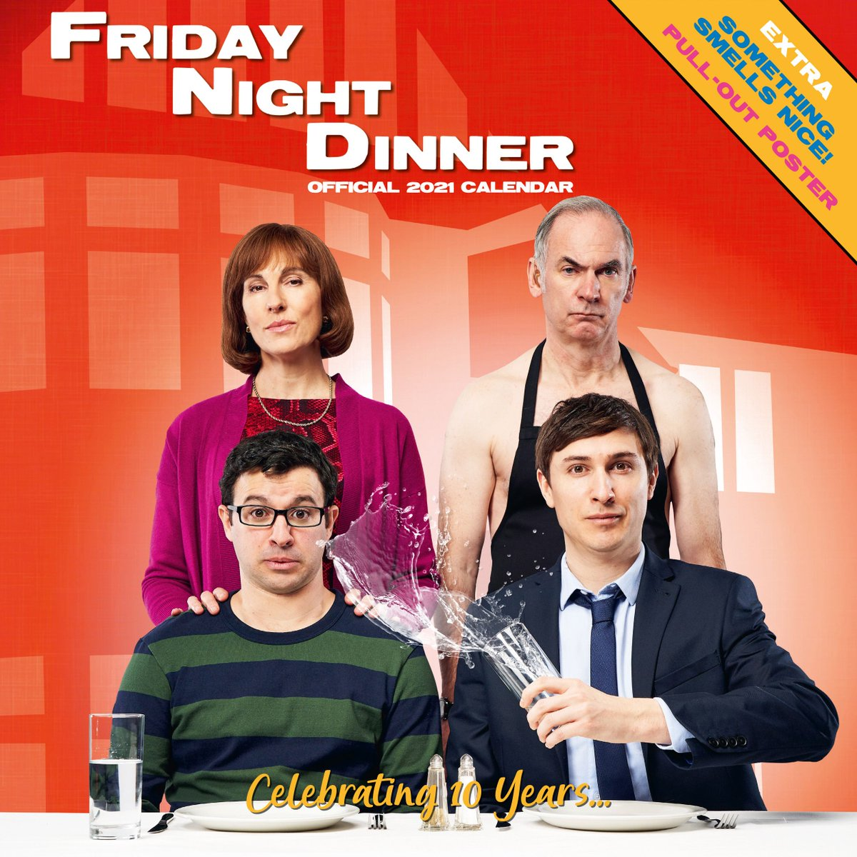Share the year ahead with Jackie, Martin, Adam, Jonny and Jim with this fantastic first ever Official #FridayNightDinner Calendar for 2021 with an extra pull-out poster inside!   Available now from the official store: