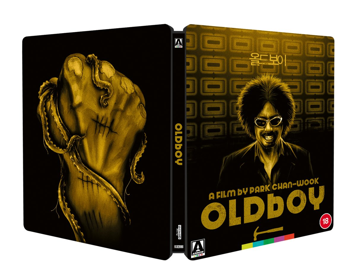 NEW UK TITLE: Oldboy (Zavvi Exclusive Limited Edition 4K UHD Blu-ray SteelBook) bit.ly/3ogzEKu