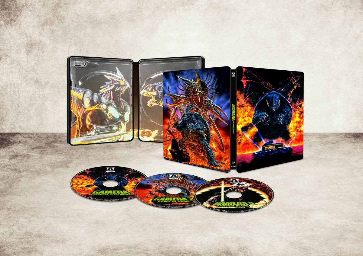 NEW UK/US/CA TITLE: Gamera – The Heisei Trilogy (Limited Edition Blu-ray SteelBook) bit.ly/3mfclyL