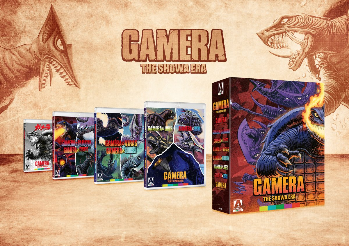 NEW UK/US/CA TITLE: Gamera – The Showa Era (Blu-ray) bit.ly/34kQhNe