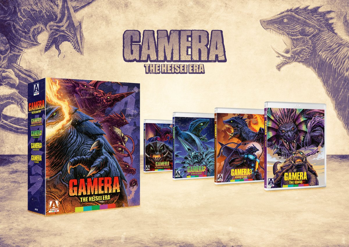 NEW UK/US/CA TITLE: Gamera – The Heisei Era (Blu-ray) bit.ly/37vG6aB