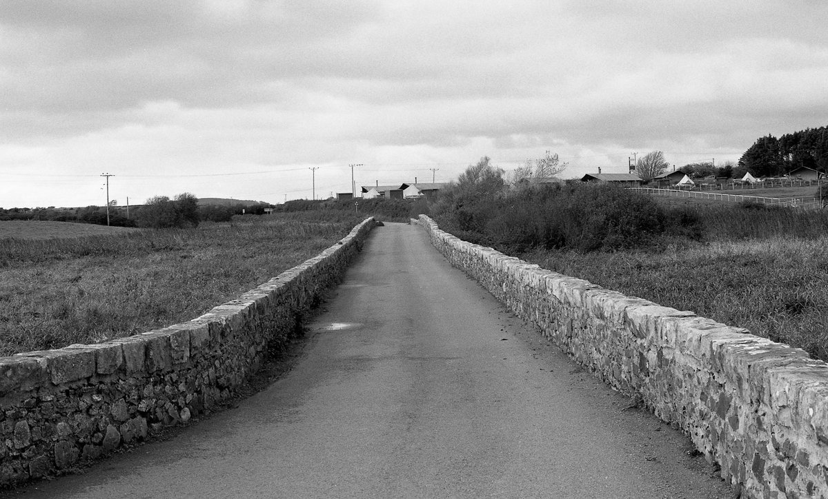 Road into the village of Llangian and St Cian's church. A 6th C grave marker, in Latin and the only one in the UK that mentions a profession-Melus the Doctor, son of Martin, lies here.The second, as a father and grandfather - just stopped me in my tracks!
