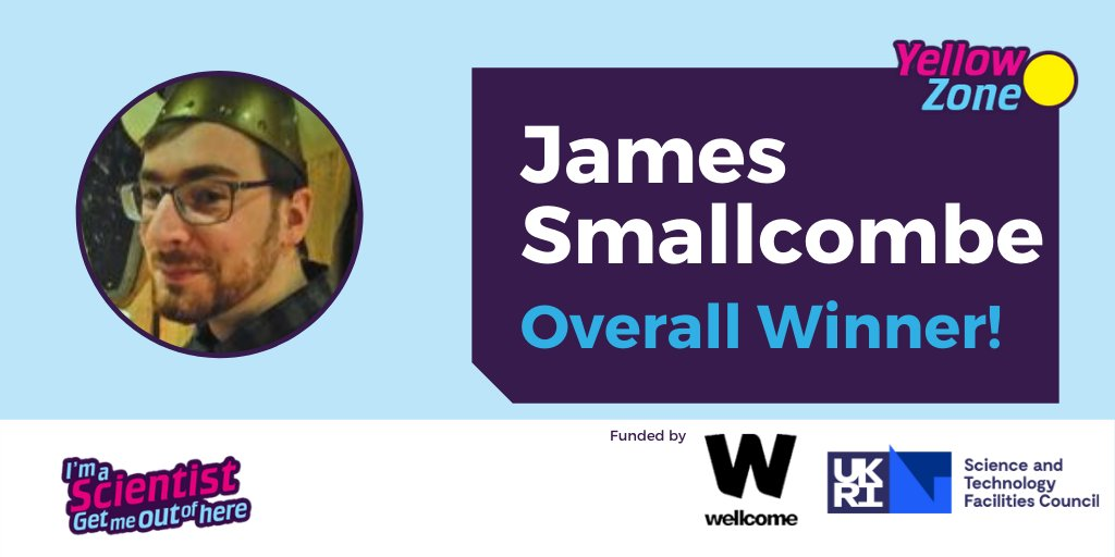 And the Overall Winner of the Yellow Zone is..... @good_call87 ! Congratulations James! 🎉🎉🎉🎉  It's been a fantastic four weeks in the @wellcometrust @STFC_Matters Yellow Zone in #IASUK, with almost 80 chats, and over 200 questions! https://t.co/1ig56WJVTb