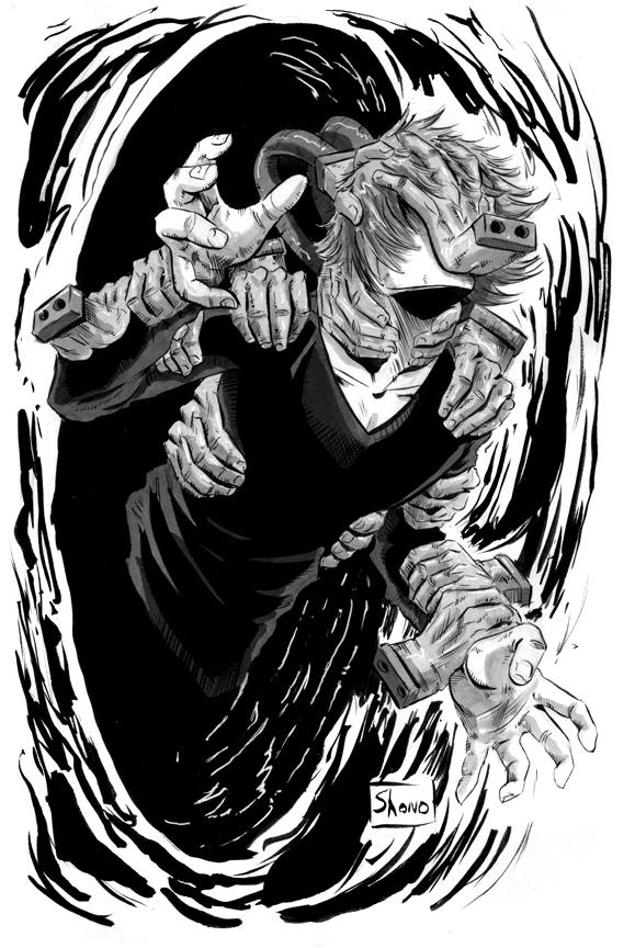#Inktober Day 29: Tomura Shigaraki by Shono - https://t.co/AjILfpWldt via @insprade #inspirationde #Anime #Art #BlackAndWhite #Comic #Illustration #Ink #Manga https://t.co/pYlki3gJGo