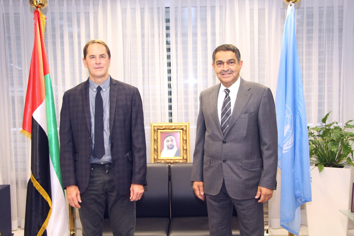 H.E Obaid Salem Al Zaabi received in his office Mr. Todd Howland, the Chief of #Development, #Economic and #Social Branch of the Office of the #United_Nations High Commissioner for #Human_Rights #OHCHR.   @MoFAICUAE @UNHumanRights https://t.co/ZsHbouSuMn