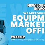 Image for the Tweet beginning: JOB VACANCY  Equipment Marketing Officer -
