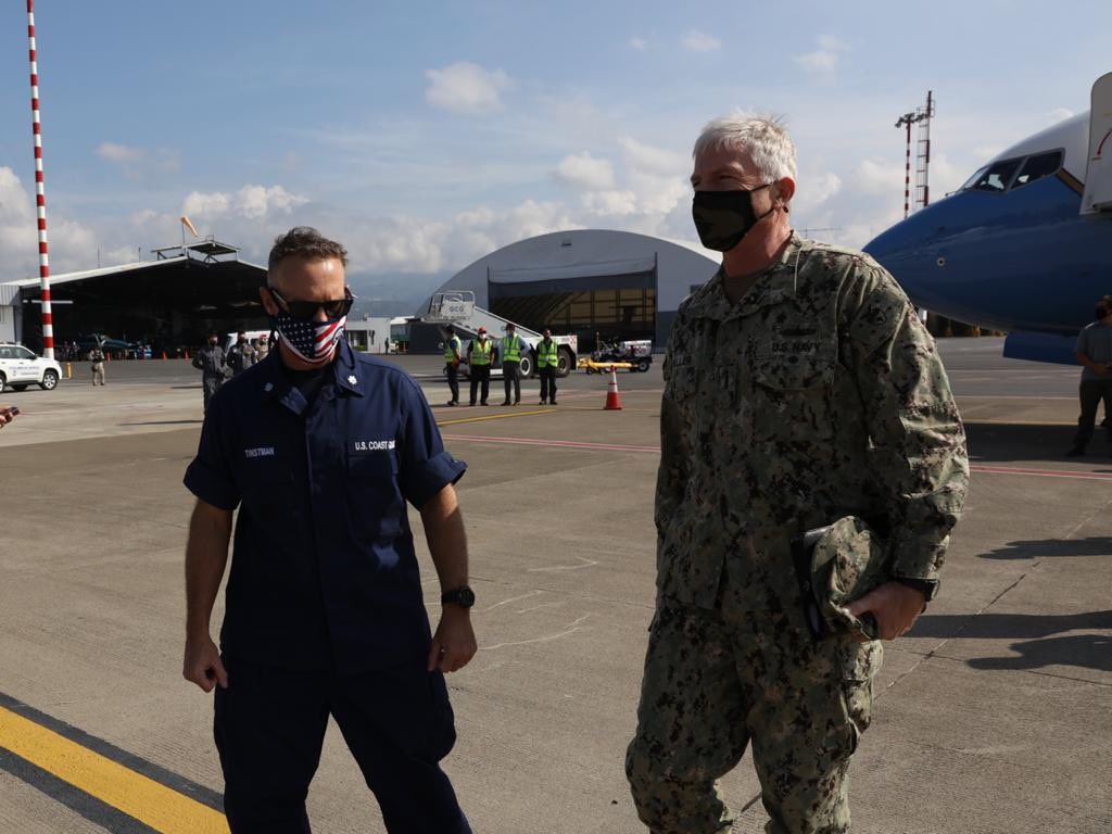 #SOUTHCOM's Adm. Craig Faller is in #CostaRica to meet w/ the nation's security leadership to discuss continued cooperation. Costa Rica is an important security partner & key contributor to regional #CounterDrugOps. @usembassysjo @usambassadorcr @seguridadcrc