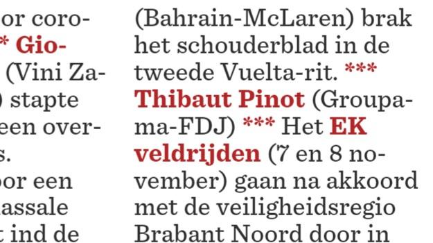 Interessant nieuwtje over Thibaut Pinot in de rubriek 'Telex Wielrennen' van @Nieuwsblad_be @sportwereld_be vandaag. ⁉ https://t.co/UxCaGeSa82