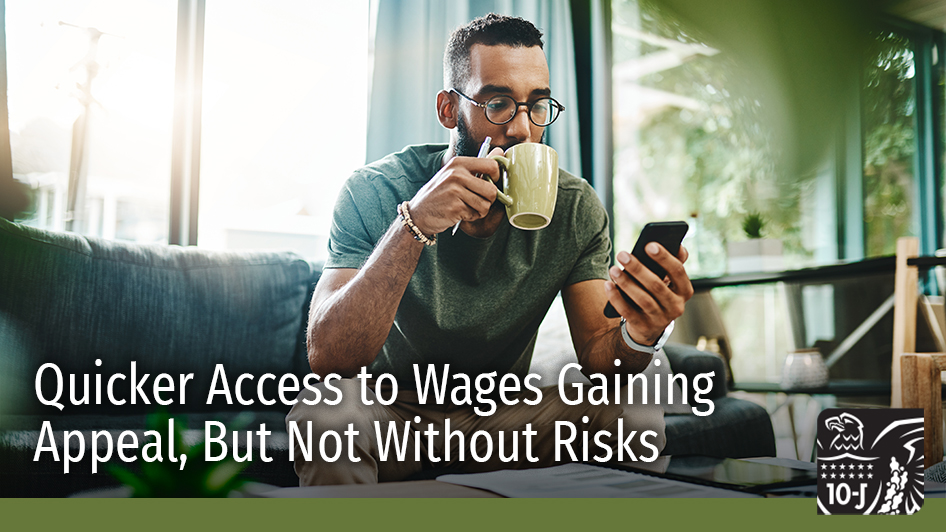 #Fintech programs that provide employees access to earned wages ahead of payday have gained new popularity during the pandemic. Although consumers benefit from greater financial flexibility, such programs may involve risks. https://t.co/TfsoYXYNXE #Payments #Banking #PSRBriefing https://t.co/QgfXdJiqus