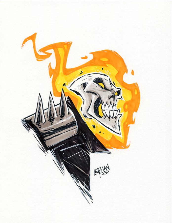 #Inktober Day 28 - Ghost Rider by DerekLaufman - https://t.co/0K6PaX5aVq via @insprade #inspirationde #Art #GhostRider #Illustration #Ink #Marvel #Skull https://t.co/h87JjrdtFL
