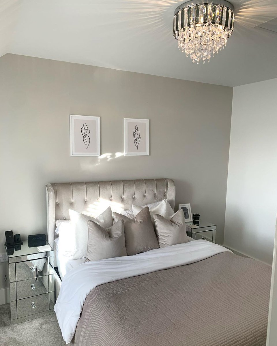 We love this chic bedroom pairing our shade China Clay with complementary tones of creams and beiges. The perfect luxury retreat! Doesnt it look great? 📷ourhomediaryx via Instagram