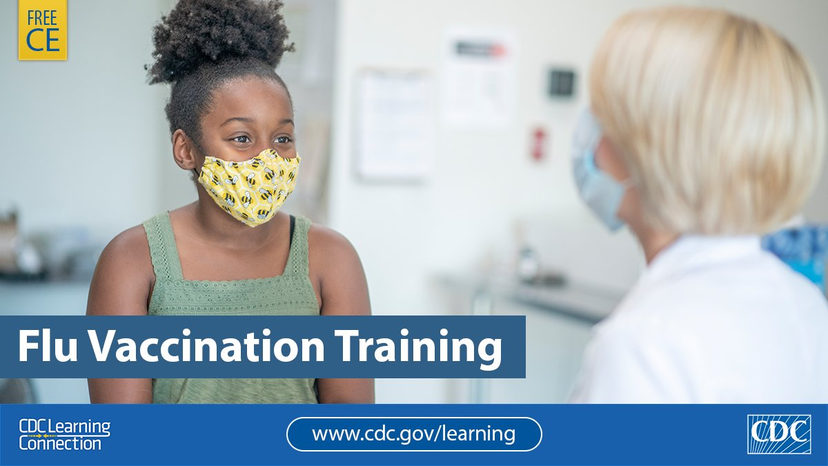 HCPs & public health professionals: You can #FightFlu through vaccination. Learn the latest guidance for the 2020-2021 season during the #COVID19 pandemic in CDC's training. Free CE. bit.ly/2ITqEHZ #CDCLearning