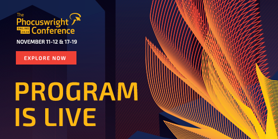 The program is live!  For The #Phocuswright Conference Online 2020, our analysts have curated a program that confronts the challenges that the industry faces, exposes mid-pandemic implications and uncovers tremendous opportunities on the road to recovery. https://t.co/XRPNfuesFR https://t.co/vWRpObAdQv