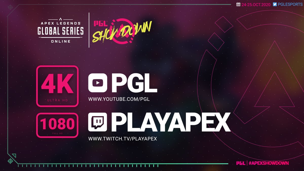 💥We will have a lot of surprises for you this weekend during PGL APEX LEGENDS SHOWDOWN👑  📹Here is a sneak peek: you can watch the tournament in 4K on our YouTube channel🌟  📺4K https://t.co/WxSGI3lkVf 📺https://t.co/f0OR1aJETz  #ApexShowdown https://t.co/RHCu5wqH4Q