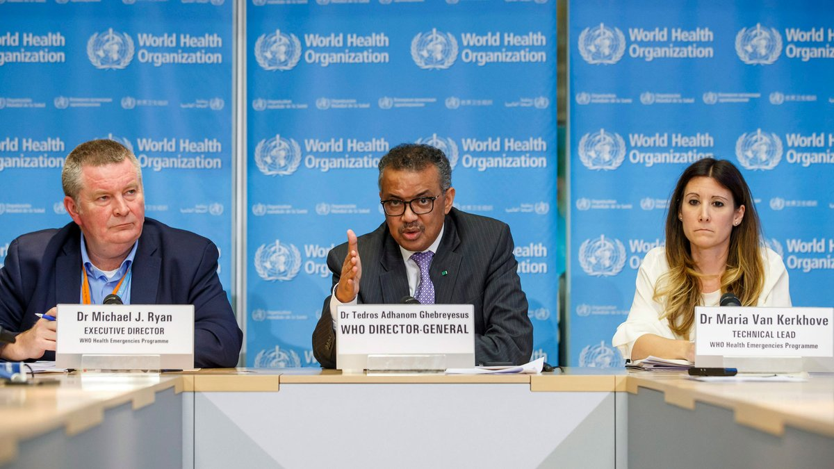 WATCH LIVE: World Health Organization officials give an update on COVID-19: https://t.co/rISHvUh3XC https://t.co/Onr5yGLxqT