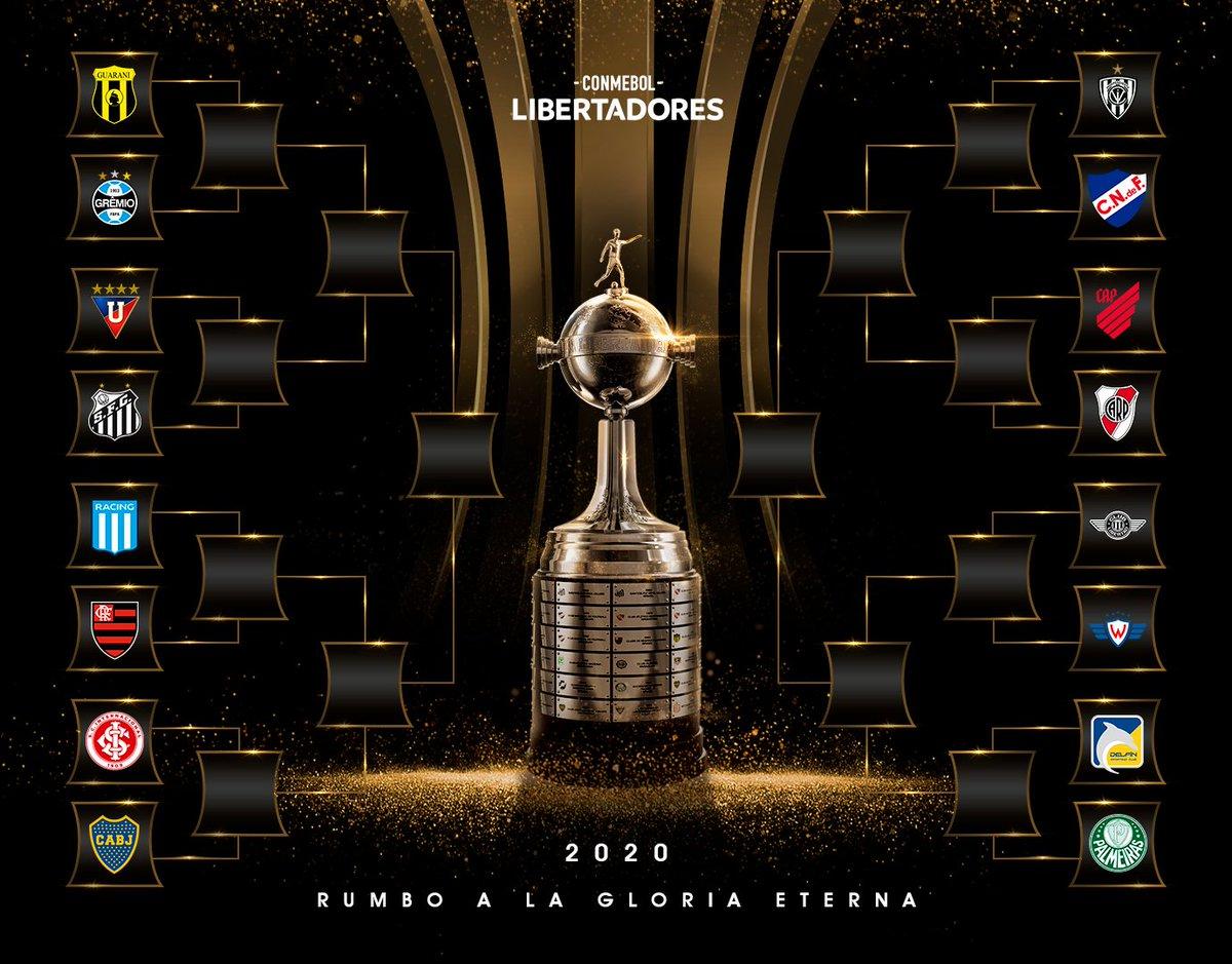 🔥 ¡El cuadro de los de octavos de final de la #Libertadores 2020!  #GloriaEterna https://t.co/VSZKcLxAZi