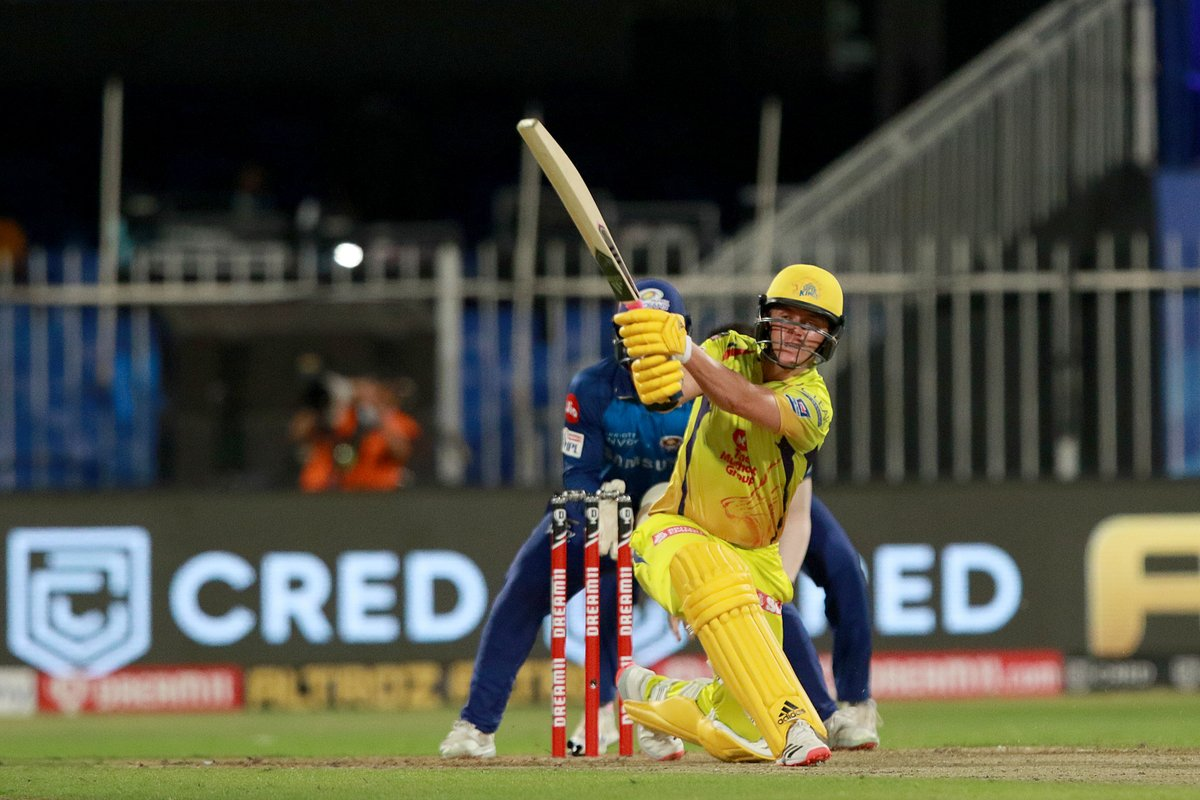 Sam Curran scores a vital FIFTY which takes #CSK to 114/9  Can their bowlers produce a miracle to stay in the game? https://t.co/amYvX5lgBG #CSKvMI #IPL2020 https://t.co/hobWEdjaCr