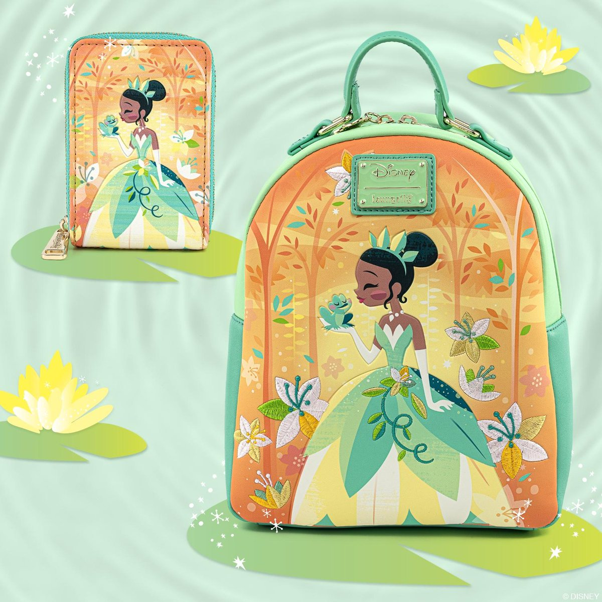💛🐸💛 The dreamiest Tiana collection is whisking us away!!! We've been counting down the days to announce its arrival! Now available on bit.ly/34mzmtr! 💛🐸💛 #Loungefly #DisneyPrincess #Disney