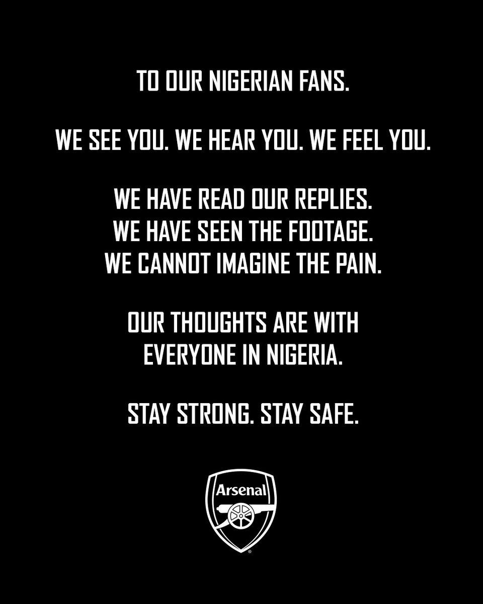 Replying to @Arsenal: Nigeria 💚