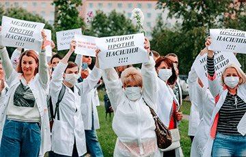 Belarus Mehr als 1.200 Mediziner unterzeichneten einen offenen Brief an die Behörden, in dem sie die Polizeigewalt stoppen,