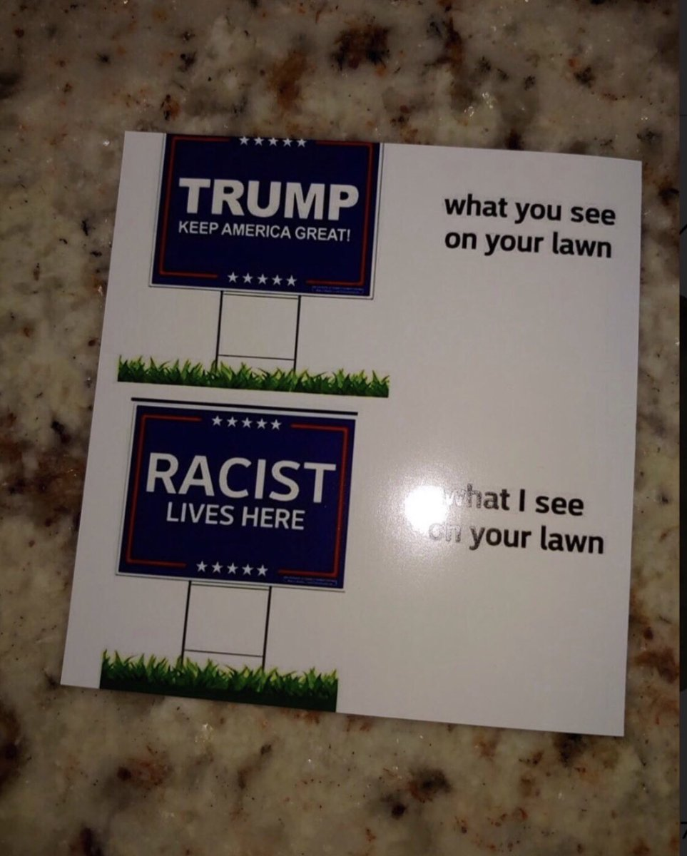 The DNC Gestapo are trying to scare Florida homeowners with these cards.  In 11 days, we are voting for @realDonaldTrump to save America from Joe Biden.  We are voting for @realannapaulina to save Florida from Charlie Crist.  I will take my signs down for no one. 🇺🇸 🇺🇸🇺🇸🇺🇸🇺🇸🇺🇸🇺🇸 https://t.co/vFQMbOYdVR