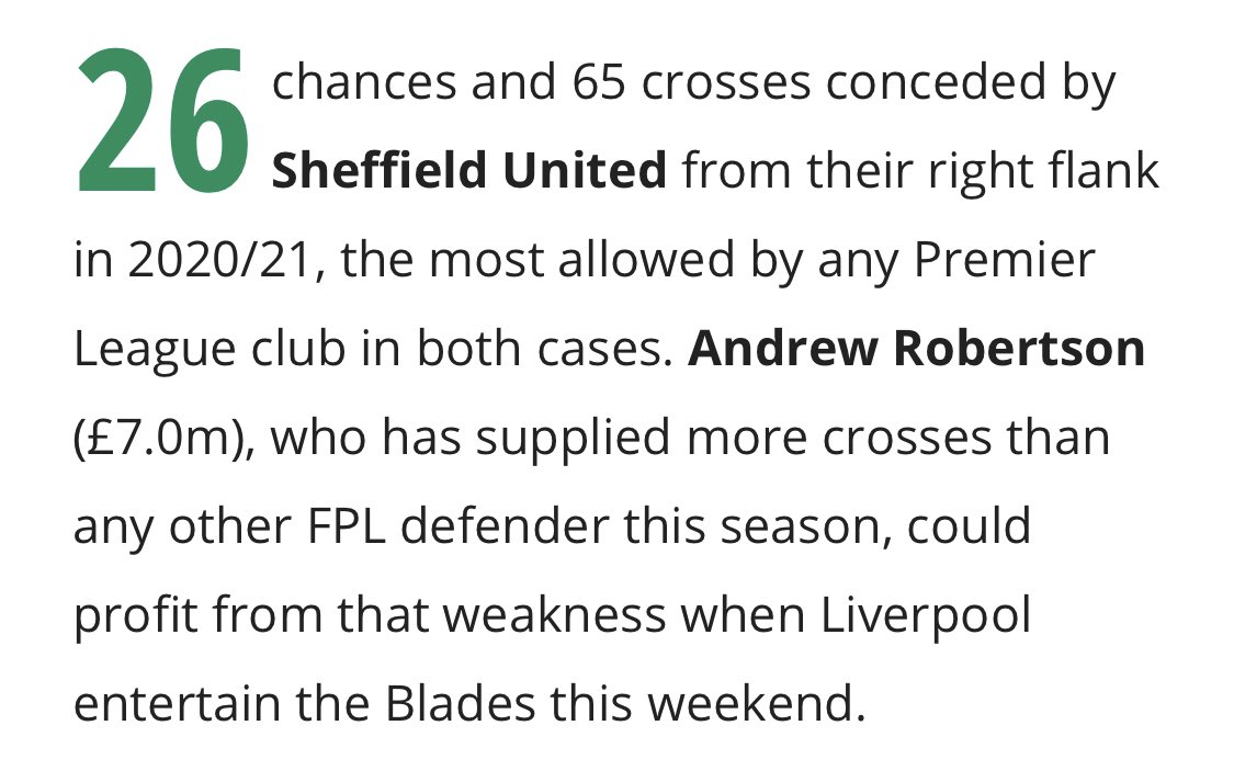 Interesting reading in this week's @FFScout 'Big Numbers' article... Mané or even Robbo for the captaincy this week? 🤔 #FPL #LIVSHU  For more killer stats like these, become a Fantasy Football Scout Member! 😊 Click here  👉 https://t.co/4iL5yAo1Rn https://t.co/jvvE1MDi3n