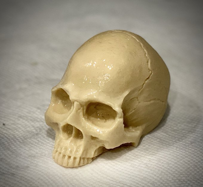The Pirate Goat Milk Skull Soap!!! These are between 5.5 and 6 ounces, significantly larger than my regular