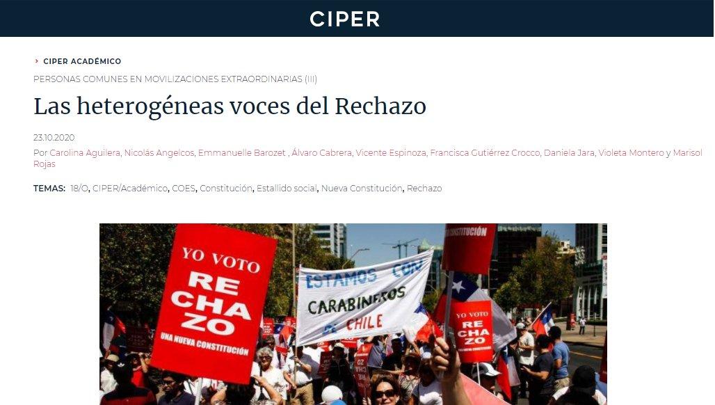👩💻 Investigadoras e investigadores del equipo de Escucha Activa de COES escribieron una nueva columna para @ciper sobre la caracterización de los adherentes al rechazo.   💻📱 Revísala aquí: https://t.co/fPsJKL0bL2 https://t.co/QnNtYswULW