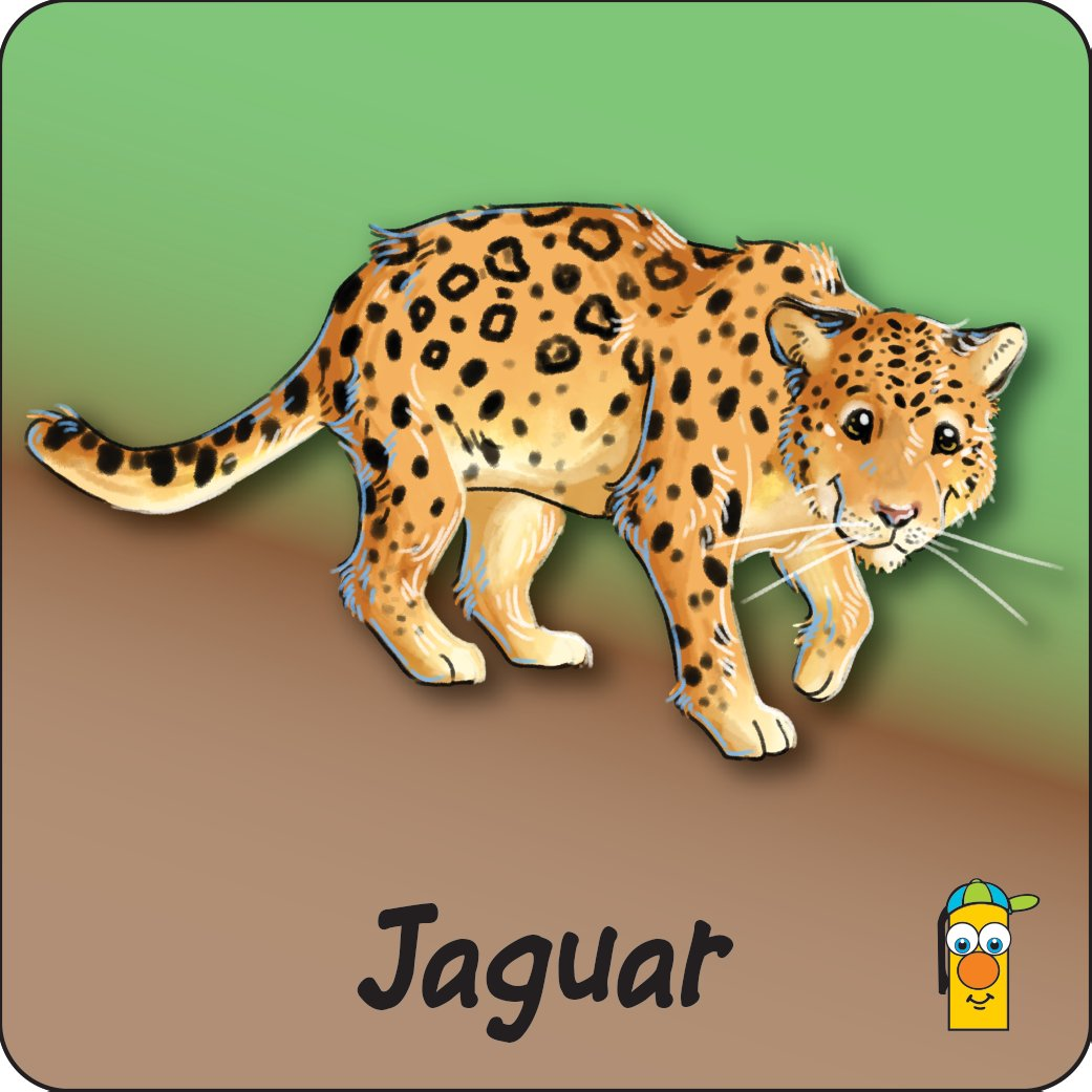 Jaguar starts with the letter J, though they can run fast, jump high and climb trees they hunt for dinner by strolling around.  Strolling is a nice word for prowling https://t.co/deF3OhXYqZ #Jaguar #cat #panther #carnivore #rainforest #grassland #trees #climber #animalart https://t.co/tauW1C3Q8b
