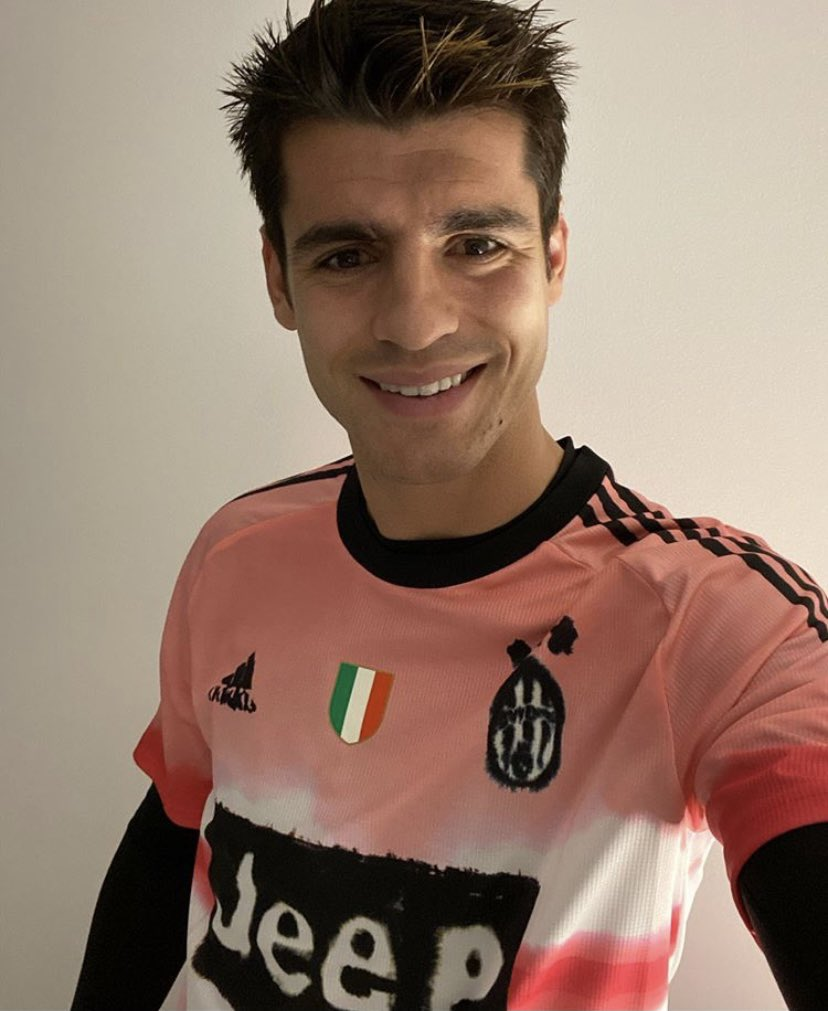 juventus fr on twitter alvaro morata avec le nouveau maillot de la juventus en collaboration avec pharrell williams twitter