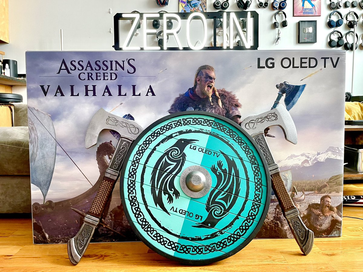 While I wait for next gen consoles to get here, a big shout out to @LGUS for the #AssassinsCreedValhalla OLEDTV and Viking gear which Colonel Singala will put to good use 😂 https://t.co/0aUkC5D0bz