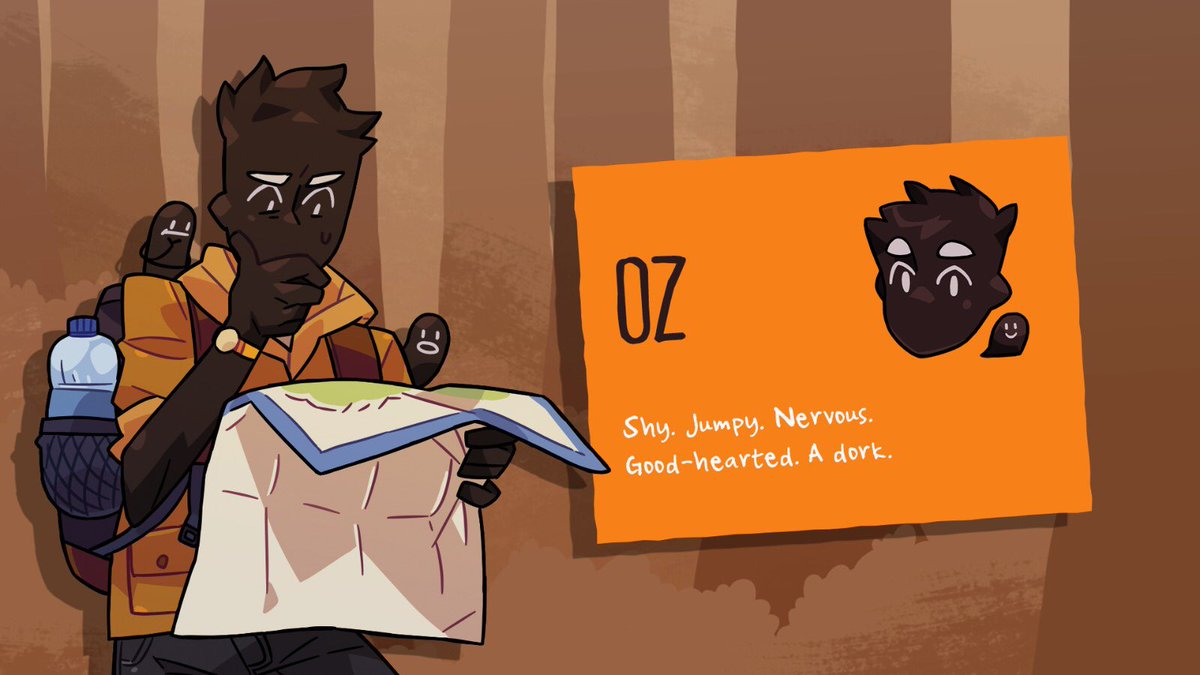 So you may already know that I voice Moss Mann in Monster Camp, but... SURPRISE! I also voice the playable character Oz! Now go forth, and camp! store.steampowered.com/app/1140270/Mo…
