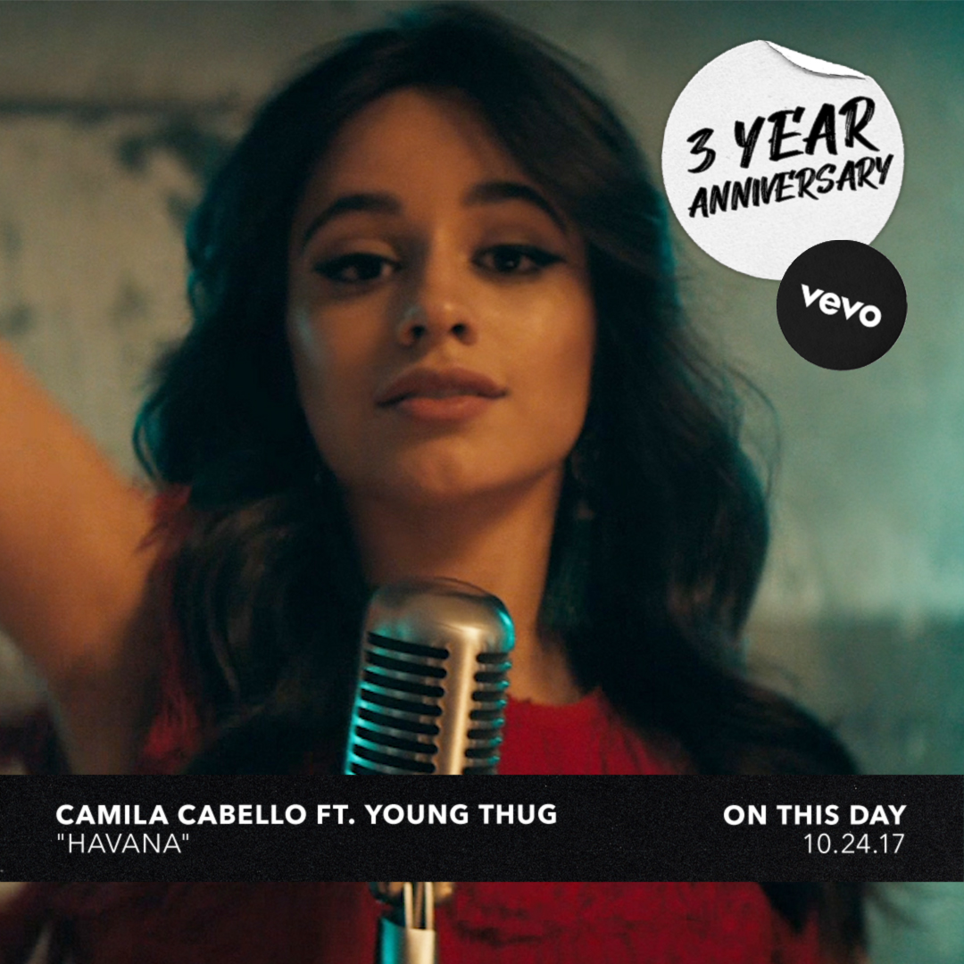 "3 years later we still have ""Havana"" stuck in our head 💭  Thanks for all the ""ooo na nas"" @Camila_Cabello, @youngthug and @lelepons 🔊 ⠀⠀⠀⠀⠀⠀⠀⠀⠀ ▶️ https://t.co/yPwgZ2xtHL https://t.co/MS12Lv4wLQ"