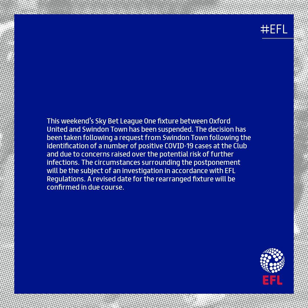 EFL statement: @OUFCOfficial v @Official_STFC #EFL